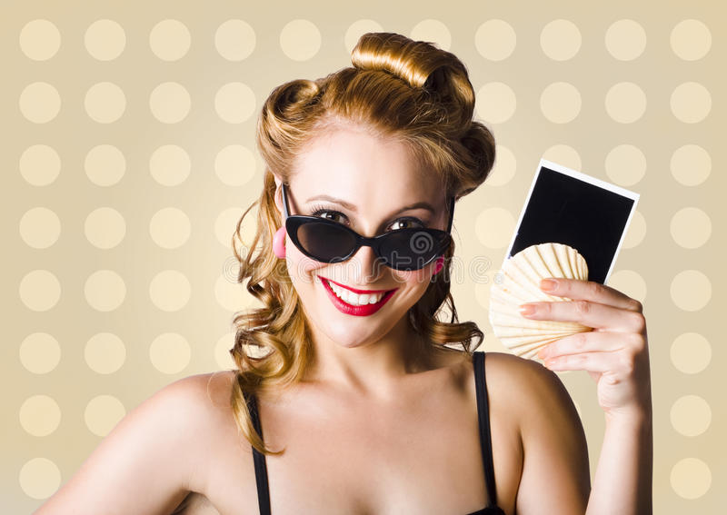 Download Pinup Girl Showing World Travel Holiday Photo Royalty Free Stock Image - Image: 28491526