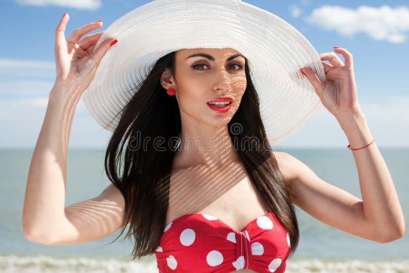 Pinup projektująca kobieta zdjęcie royalty free