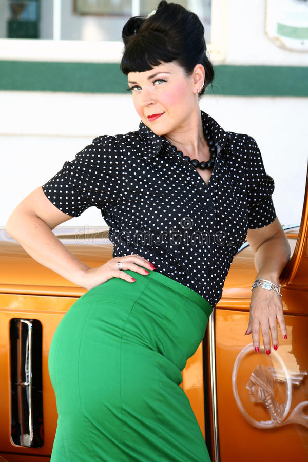 Pinup Style Woman royalty free stock images