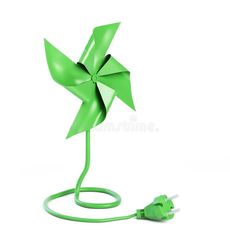 Pinwheel με ένα σκοινί δύναμης διανυσματική απεικόνιση