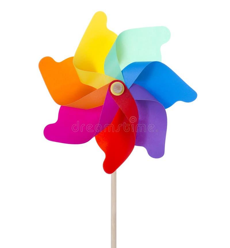 Pinwheel изолированный на белизне (XXXLarge) стоковая фотография
