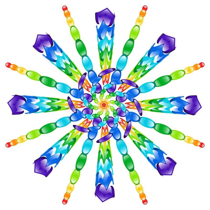 Pinwheel стеклянных бусин радуги стоковое изображение rf