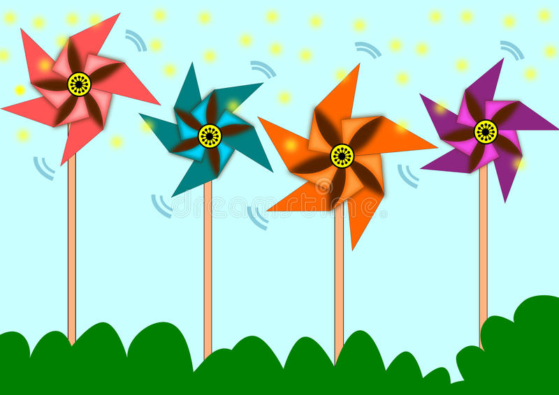 pinwheel stock illustratie