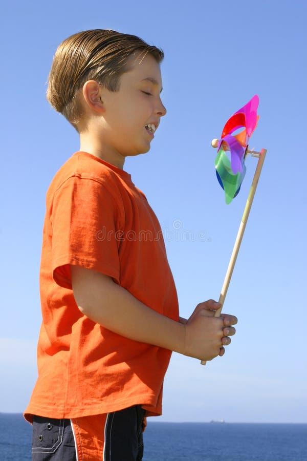 Pinwheel in the breeze stock images