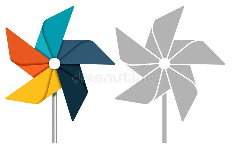 Pinwheel royalty free illustration