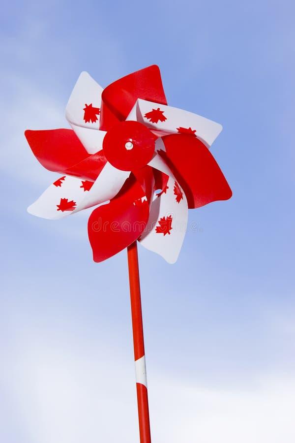 Pinwheel del día de Canadá fotos de archivo