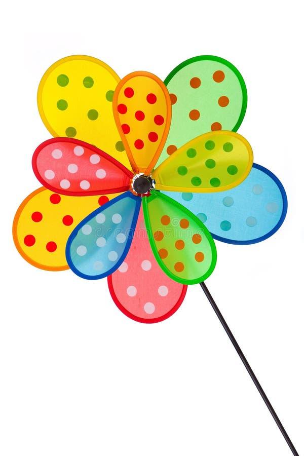 Pinwheel en blanco foto de archivo