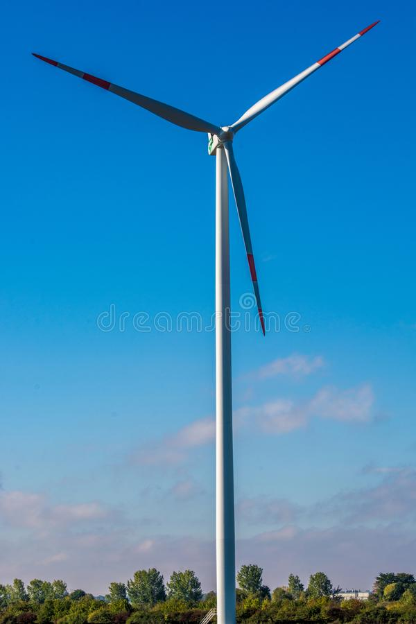 Big pinwheel in front of blue sky in detail royalty free stock photos