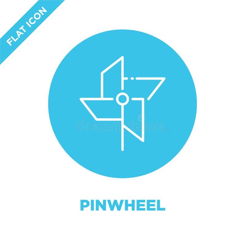 Pinwheel icon vector. Thin line pinwheel outline icon vector illustration.pinwheel symbol for use on web and mobile apps, logo,. Print media royalty free illustration