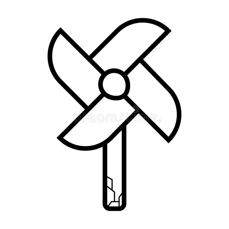 Pinwheel ikony wektor royalty ilustracja