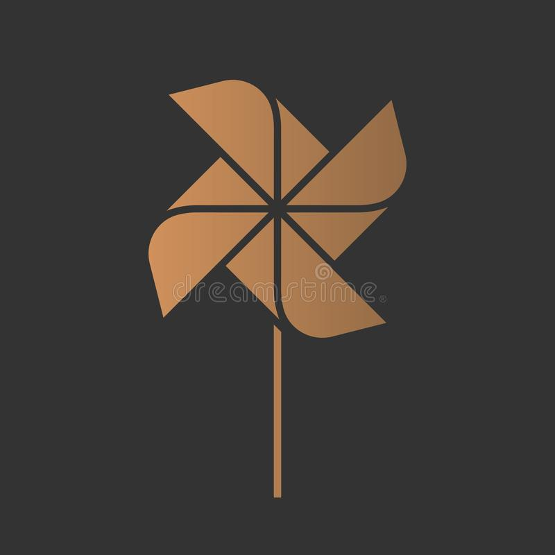 Pinwheel logo royalty ilustracja