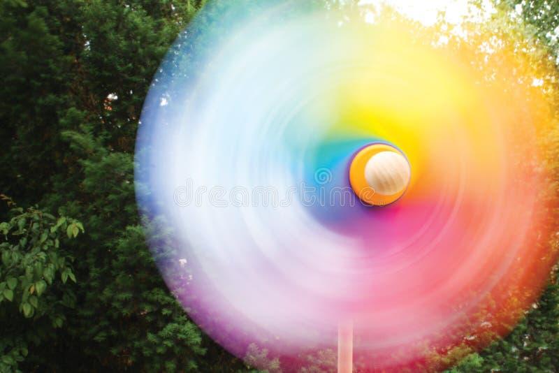Pinwheel In Motion Stock Images