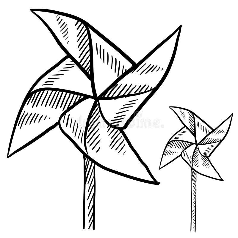 Pinwheel nakreślenie ilustracji