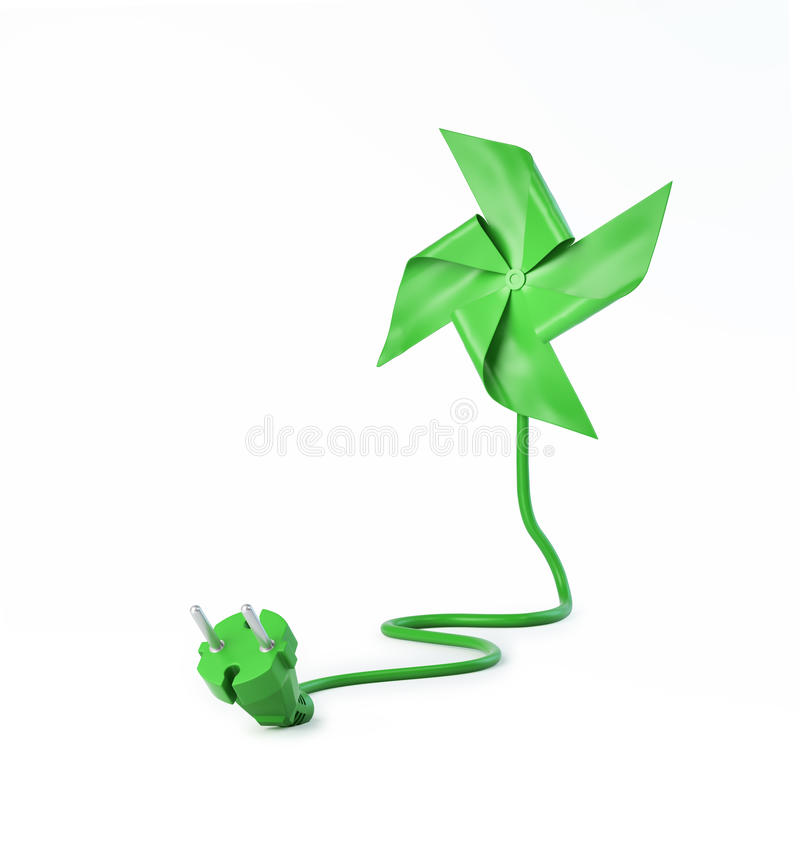 Pinwheel with a power cord stock illustration