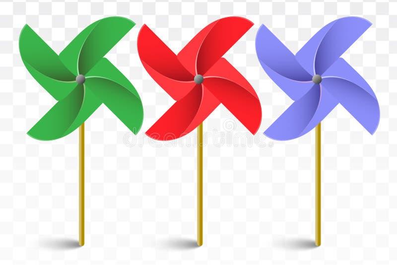 Pinwheel z cieniem ilustracja wektor
