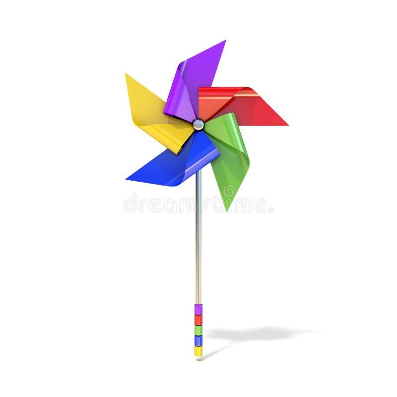 Pinwheel zabawka, pięć popierający kogoś, inaczej barwioni vanes ilustracji