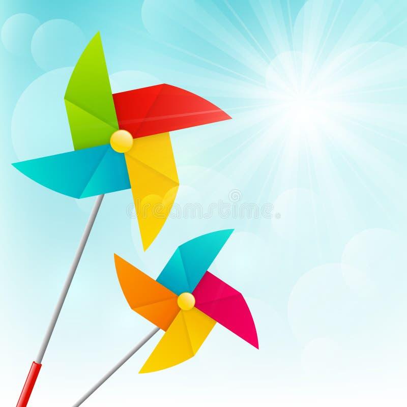 Pinwheels цвета иллюстрация вектора