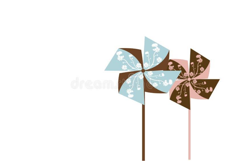 Pinwheels stock illustrationer