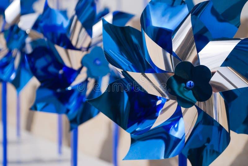 Pinwheels azuis fotos de stock royalty free