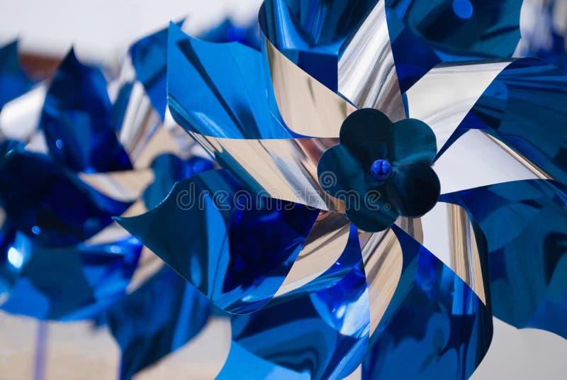 Pinwheels blu fotografia stock libera da diritti