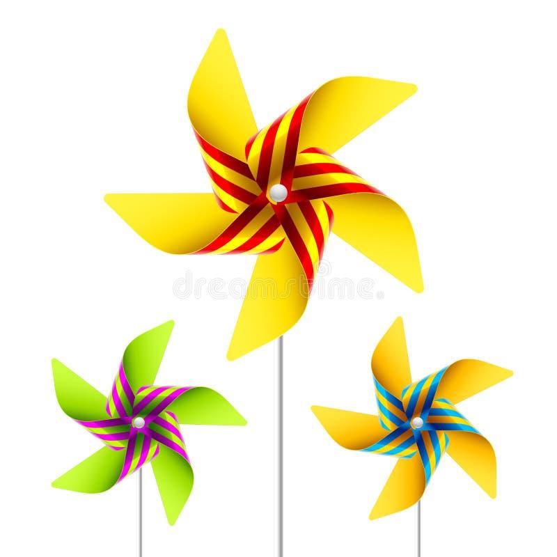 pinwheeltoy vektor illustrationer