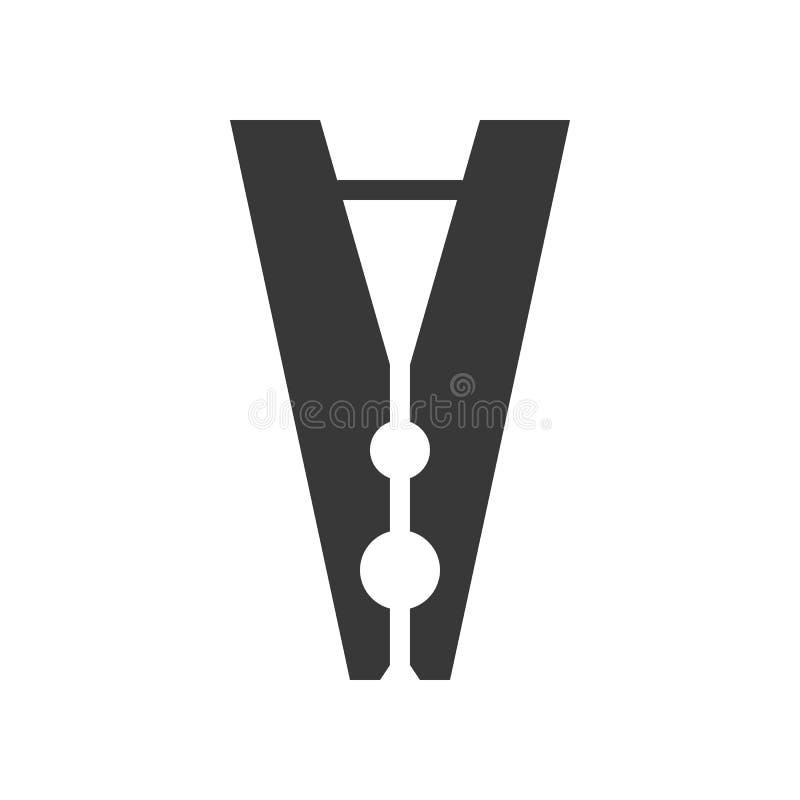 Pinza, lavadero y sistema relacionado del icono del servicio de la limpieza, glyph libre illustration