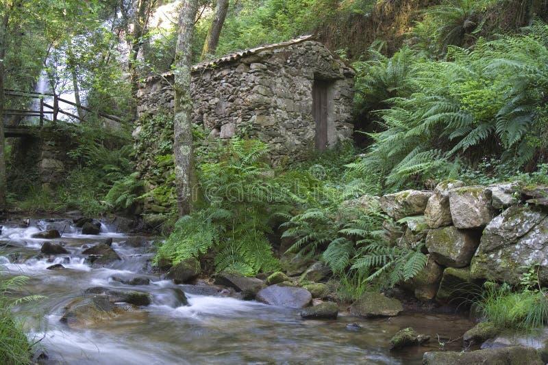 Piodao är en mycket gammal liten bergby, i Arganil, Portugal fotografering för bildbyråer