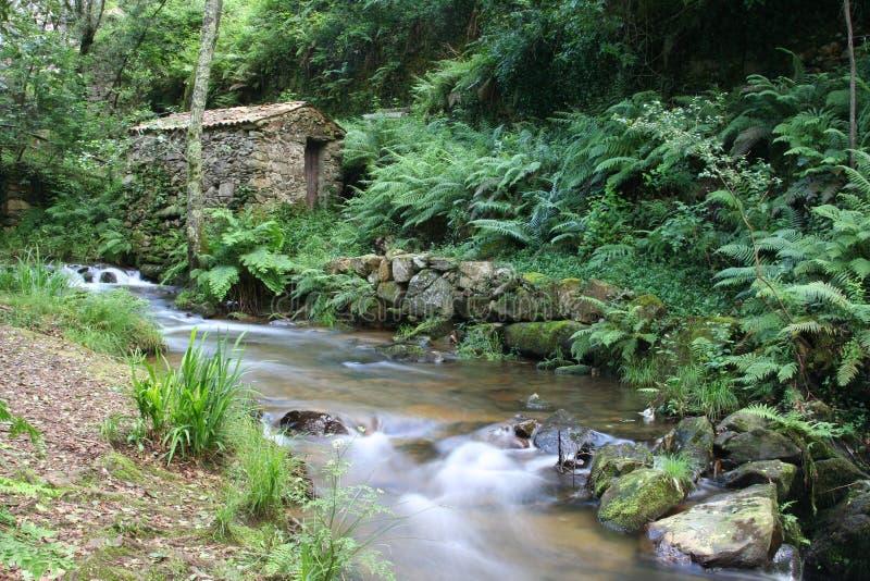Piodao är en mycket gammal liten bergby, i Arganil, Portugal royaltyfri foto