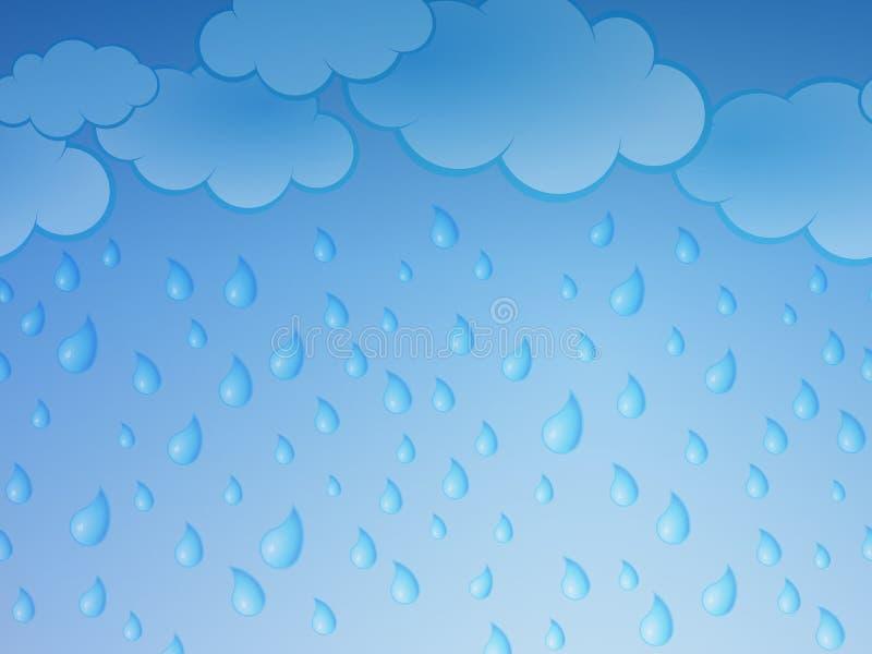 Pioggia illustrazione di stock