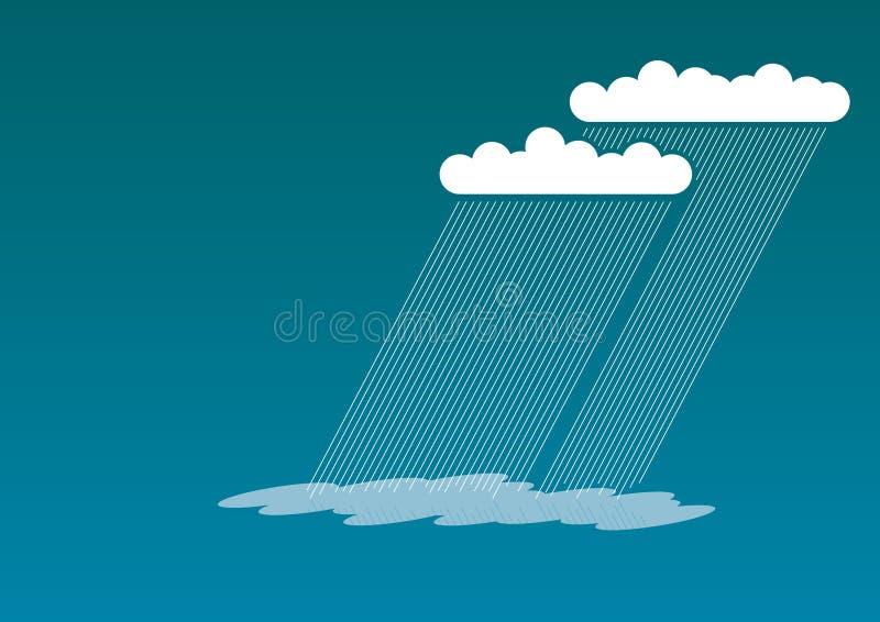 Pioggia blu illustrazione di stock