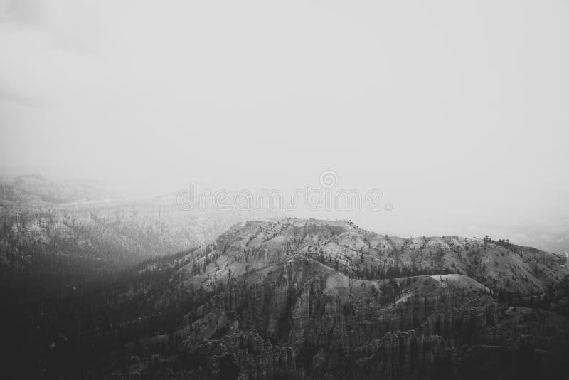 Pioggia a Bryce Canyon National Park fotografia stock libera da diritti