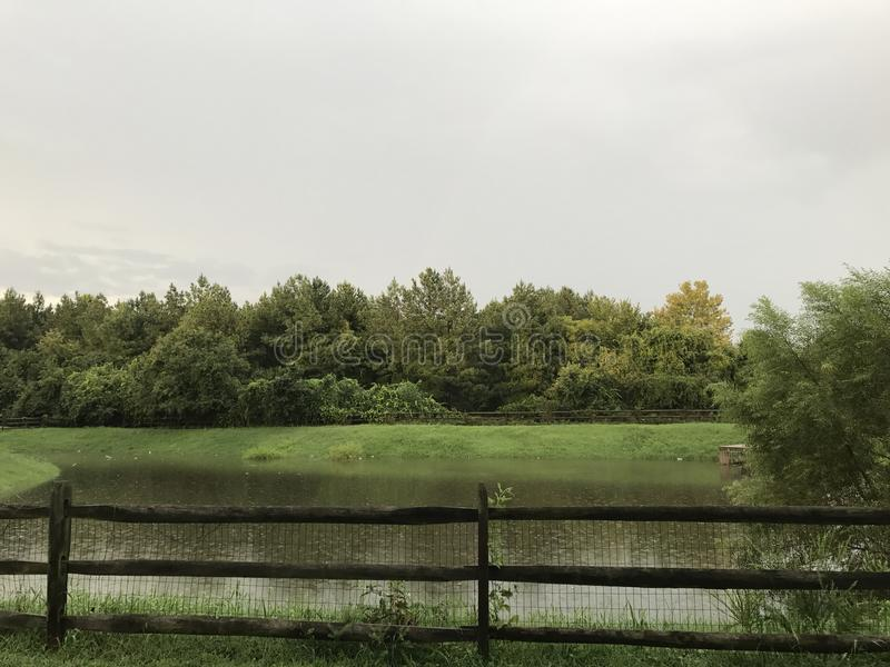 Pioggia che cade in Maryland immagine stock