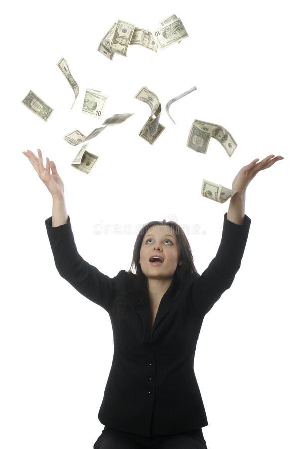 pioggia dei soldi immagini stock