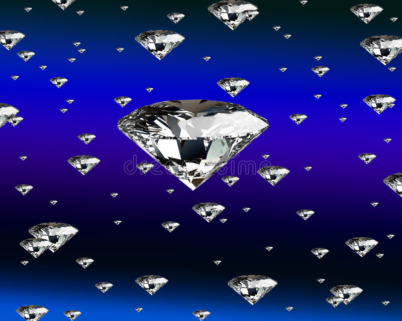 Pioggia del diamante illustrazione di stock