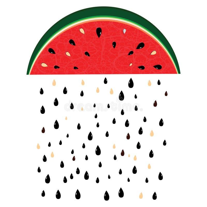 Pioggia dell'anguria illustrazione di stock