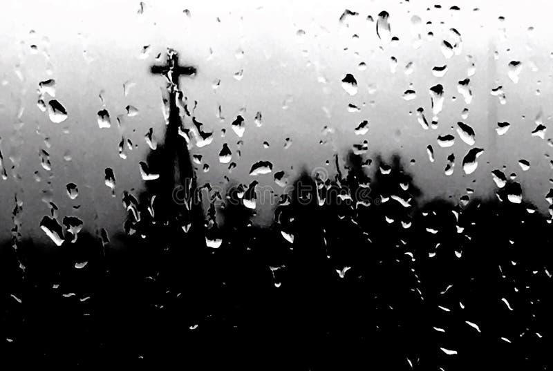 Pioggia della fede fotografie stock libere da diritti