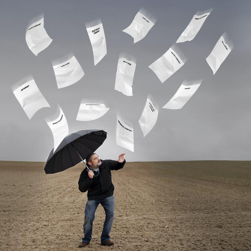 Pioggia delle fatture. fotografie stock