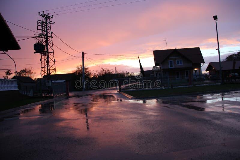 Pioggia di notte fotografia stock libera da diritti