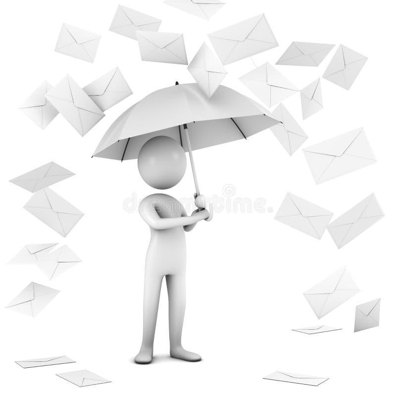 Pioggia di posta. immagini stock libere da diritti