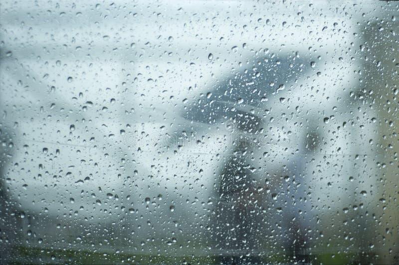 Pioggia e goccioline fotografia stock