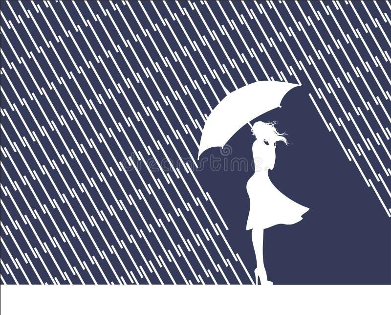 Pioggia e mente royalty illustrazione gratis