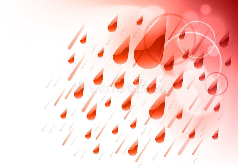 Pioggia rossa illustrazione vettoriale