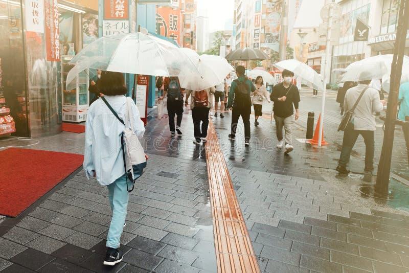 Pioggia a Tokyo fotografia stock