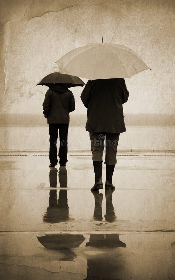 Pioggia urbana fotografia stock
