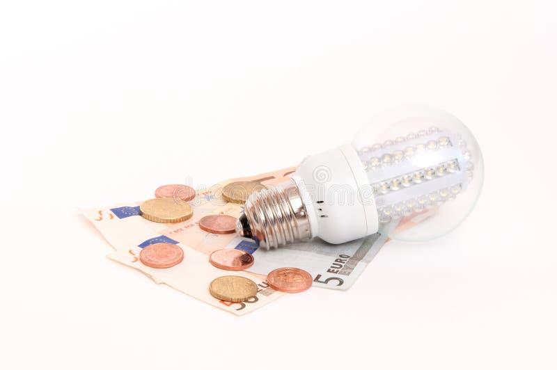 Piombo-lampada di Powersaving immagine stock