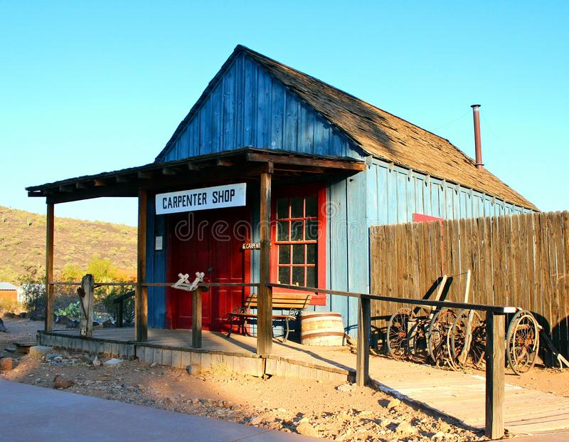 Typical Old West Carpenter Shop Building royalty free stock photo
