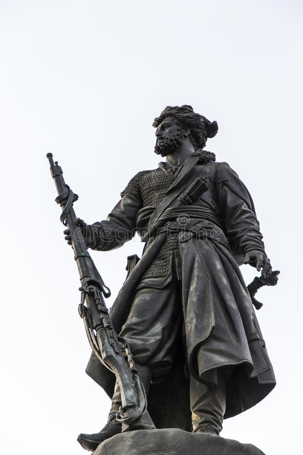 Pioneer monument in Irkutsk ,russian federation. Pioneer monument is taken in Irkutsk ,russian federation stock photo