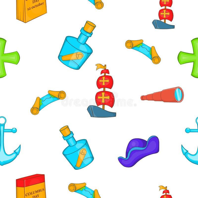 Pioneer pattern, cartoon style. Pioneer pattern. Cartoon illustration of pioneer vector pattern for web stock illustration