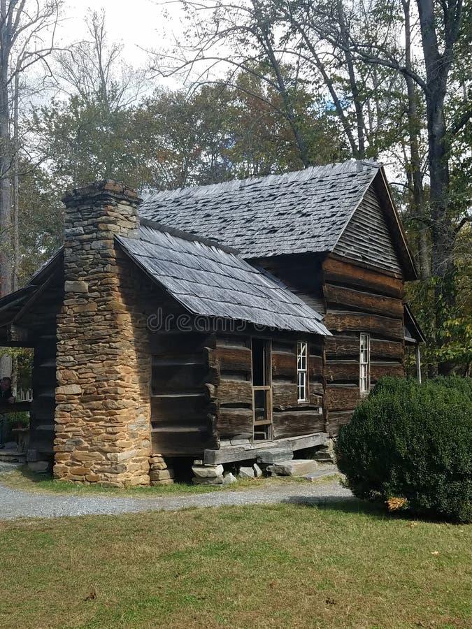 Pioneer style log cabin stock photo