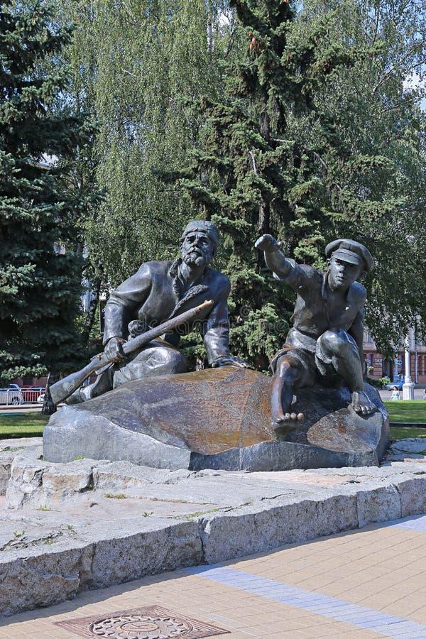 Pionero y partidarios del monumento en la historia por las colas de Yakub fotos de archivo libres de regalías